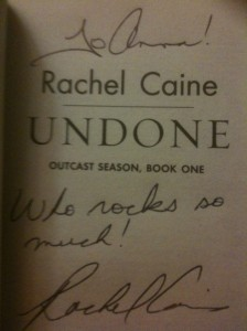 Yay! Rachel Caine Thinks I'm Awesome!