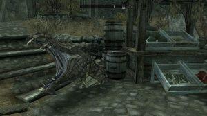 Dead Dragon Head in Whiterun